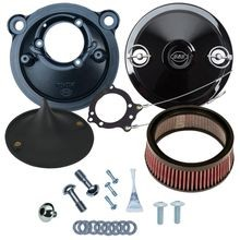 Stealth Air Cleaner Kit with Black Muscle Cover for 2007-2017 XL Models
