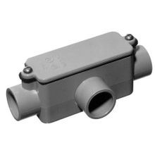 Carlon® E983F Type T Conduit Bodies, 1 in Hub, 12 cu-in, Non-Metallic