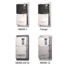 Allen-Bradley, 20AD052F0AYNANC0, PowerFlex70 AC Drive, 480 VAC, 3 PH, 52 Amps, 40 HP Normal Duty, 30 HP Heavy Duty, Flanged Mount - Front IP20, NEMA Type 1