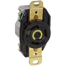 Hubbell, Twist Lock Receptacle, 2 Pole, 3 Wire, 30 Ampere, 125 Volts, NEMA L5-30R, Black
