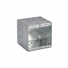 Steel City® 2-MB Masonry Box, Steel, 46.8 cu-in, 2 Gangs, 12 Knockouts
