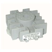 Allen-Bradley, Tube Base Socket, 3PDT 700-HA Relays, Panel or DIN Rail Mount, Screw, 11-Pin
