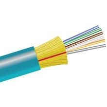 CABLE, FIBER OPTIC, RISER, PVC, 50/125 MULTIMODE, 6 FIBER, TIGHT BUFFERED, OM3 RATED, 300 METER 10G, AQUA, OPTICAL CABLE CORP