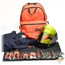 Cementex CFRCA12-XL Flame Coverall Back Pack Kit, XL, Cotton