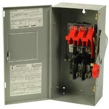 Cutler-Hammer DH361FGK Heavy Duty Fusible Safety Switch, 600 VAC, 30 A, 20 hp, TPST Contact Form, 3 Poles