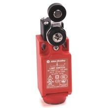Allen-Bradley, 440P-CSLB12E, Safety Limit Switch, 22mm Plastic, Short Lever, 2 N.C., 1 N.O., BBM, 1/2 in NPT Conduit