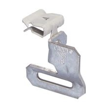 Caddy® MSR24 90 deg Strap Hanger With Flange Clip, Steel, Caddy Armour/Pre-Galvanized