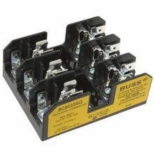 Edison BC6033S Fuse Block, 600 VAC, 1/10 - 30 A, 14 - 10 AWG Wire, 3 Poles