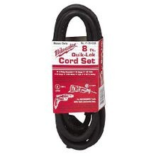 Milwaukee® QUIK-LOK™ 48-76-4008 Extension Cord, 120 V 10 A, 8 ft Cord