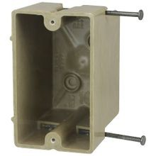 Allied Moulded fiberglassBOX™ 1099-N Electrical Box, Polyester BMC, 22.5 cu-in, 1 Gang, 2 Outlets, 4 Knockouts