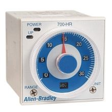 Allen-Bradley, 700-HR General Purpose Dial Timing Relay, Twin Timer w/ 8 Pins, Repeat Cycle - Off Start, 0.05 seconds to 30 hours, DPDT Timed, 100...125V DC/100...240V AC