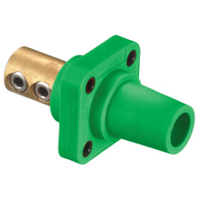 Wiring Device-Kellems HBLFRGN Female Single Pole Receptacle, 600 VAC/250 VDC, 400 A, 4 to 4/0 AWG Wire, Screw