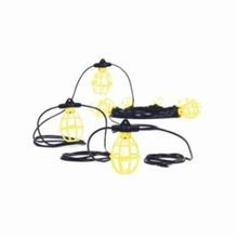 Woodhead® Safety Yellow® 130111 Commercial Duty String Light, Incandescent (A21) Lamp, 120 VAC
