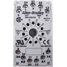 Allen-Bradley, Relay Socket, 3PDT 700-HA Relays, Panel or DIN Rail Mount, 1-1/2 Inch