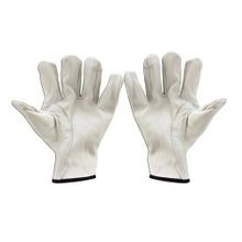 Cementex P0-10-9 Class 0 Glove Protector, 9, Leather Palm, White, Straight Thumb Style, Unlined Goatskin Leather