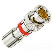 IDEAL® 89-5047 Type BNC Compression Connector, 20 - 18 AWG Cable, RG-59 Cable