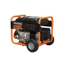Generac® 5978 GP7500E Portable Generator, 120/240 VAC, 62.5 A, 9375 W Starting/7500 W Running, OHV Engine, 3600 rpm