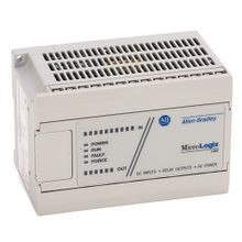 Allen-Bradley, 1761-L16BWA, MicroLogix 1000, 120/240V ac power, (10) 24V dc digital inputs, (6) relay outputs
