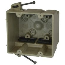 Allied Moulded fiberglassBOX™ 2300-NK Electrical Box, Polyester BMC, 32.5 cu-in, 2 Gangs, 4 Outlets, 8 Knockouts