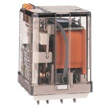 Allen-Bradley, 700-HB General Purpose Blade Base Relay, 15 Amp Contact, 3PDT, 110V DC, Pilot Light