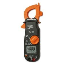 Klein® CL2000 AC/DC True RMS Clamp Meter, 400 A 750 VAC/1000 VDC, 40 MOhm, 1 MHz, 1-1/4 in Jaw, LCD Display