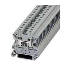 Eaton, Terminal Block, 10 AWG, 6.2 mm, Feed Through, Gray, 50/Pack
