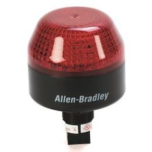 Allen-Bradley, 855PS-B10LE422, 855PS Panel Mount Strobe, Black Housing, 120V AC, 65 mm, Red Lens, 22.5 mm Mounting Hole