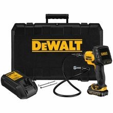 DeWALT® DCT410S1 Inspection Camera Kit, 17 mm x 3 ft Probe, 3-1/2 in LCD, Plastic, Yellow/Black