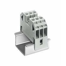 Siemens 8WA1 Standard Single-Tier Terminal Block, 800 VAC, 41 A, 14 - 8 AWG Wire, 3 Poles, 35 mm DIN Rail Mount