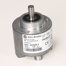 Allen-Bradley, 842E-MIP2BA, 842E EtherNet/IP Multi-Turn Encoders, Multi-turn (4096 turns), Solid shaft 3/8 in with flat, M12 connector, 262,144 (18 bit) steps per revolution