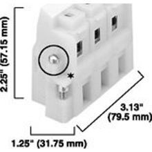 Allen-Bradley, 1492 Panel Mount Block, Pull apart, 3-Pole
