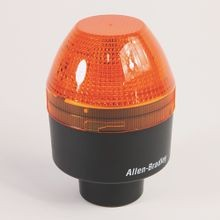 Allen-Bradley, 855BS-N10BL4, Round 90 mm Beacon, 1/2 in Conduit Mount, Standard, 120V AC Full Voltage, LED Strobe Selectable Single/Double Flash, Red