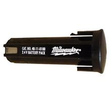 Milwaukee® 48-11-0100 Battery Pack, 1.3 Ah NiCd Battery, 2.4 V, For Use With Milwaukee 2.4V Tools (Bare Tool)