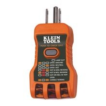 Klein® RT600 GFCI Receptacle Tester, 120 VAC