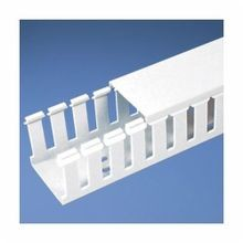 Panduit® G6X4LG6 Type G Slotted Wall Wiring Duct, 0.31 in Wide Finger Slot, 6 in W x 4 in D, PVC