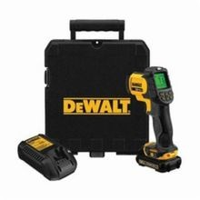 DeWALT® DCT414S1 Infrared Thermometer Kit, -20 to 932 deg F, +/-1.5%, +/-1.5 deg C, 12:1, 0.1 to 1, Li-Ion Battery