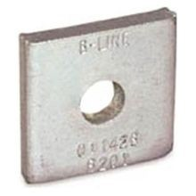 B-Line B202ZN No-Twist Square Washer, 1/2 in, 9/16 in ID, Steel