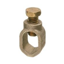 Penn-Union, Ground Rod Clamp, 5/8 Inch, Aluminum Bronze, 8 Sol to 2 str, Hexagon Head Bolt