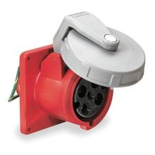 HUBBELL® HBL460R7W Unfused Watertight Pin and Sleeve Receptacle, 480 VAC, 60 A, 3 Poles, 4 Wires