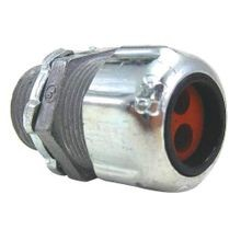 Thomas & Betts 2520 Strain Relief Straight Cord Connector, 1/2 in Trade, 1/8 - 1/4 in Cable Openings, Die Cast Zinc