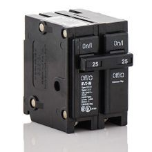 Cutler-Hammer BR225 Type BR Miniature Circuit Breaker, 120/240 VAC, 25 A, 10 kA, 2 Poles, Thermal Magnetic Trip