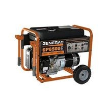 Generac® 5976 GP6500 Portable Generator, 120/240 VAC, 54.2 A, 8125 W Starting/6500 W Running, OHV Engine, 3600 rpm
