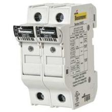 Bussmann® CHCC2DIU Finger-Safe Modular Fuse Holder With LED Indicator, 600 VAC, 30 A, 18 - 4 AWG Wire, 2 Poles