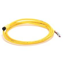 Allen-Bradley, 1485R-P2R5-C, DeviceNet, Trunk End: Micro, Straight Female, Device End: Cable, Thin Media, Yellow CPE,