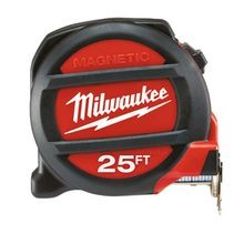 Milwaukee, Magnetic Tape, 25 ft, Yes, Nylon, Inches, 360 Degree, 9 ft, 4.75 Inch, 7 Inch, 2.75 Inch