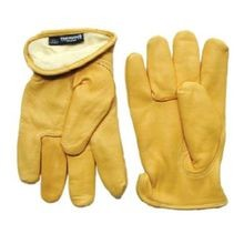 Batoray, Cow Grain Glove, Driver, Slip On, Leather, L, Full, Uncoated, Beige, 12/Pack, Unlined