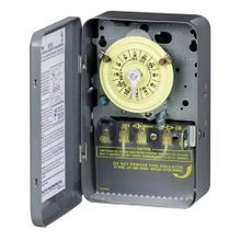 Intermatic® T104 Electromechanical Mechanical Timer, 24 hr Time Setting, 208/277 VAC, 5 hp, 2NO DPST Contact Form