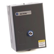 Allen-Bradley, 509-BAD, Available from RCC, NEMA Full Voltage Non-Reversing Starter, SIZE 1, 115-120V 60Hz, Type 1 General Purpose Enclosure, Surface Mounting, with Eutectic Alloy Overload Relay
