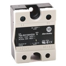 Allen-Bradley, 700-SH50VA24, Hockey Puck Style, Solid-State Relay, w/ LED Diag. Indicator, w/ Zero Cross Function, Rated Output of 50 Amp @ 42...660V AC, Rated Input of 20...280V AC/22..48V DC