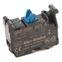 Allen-Bradley, 800F-X10V, 22.5mm PB No Latch, Screw Contact Block, 1 N.O. Low Volt.